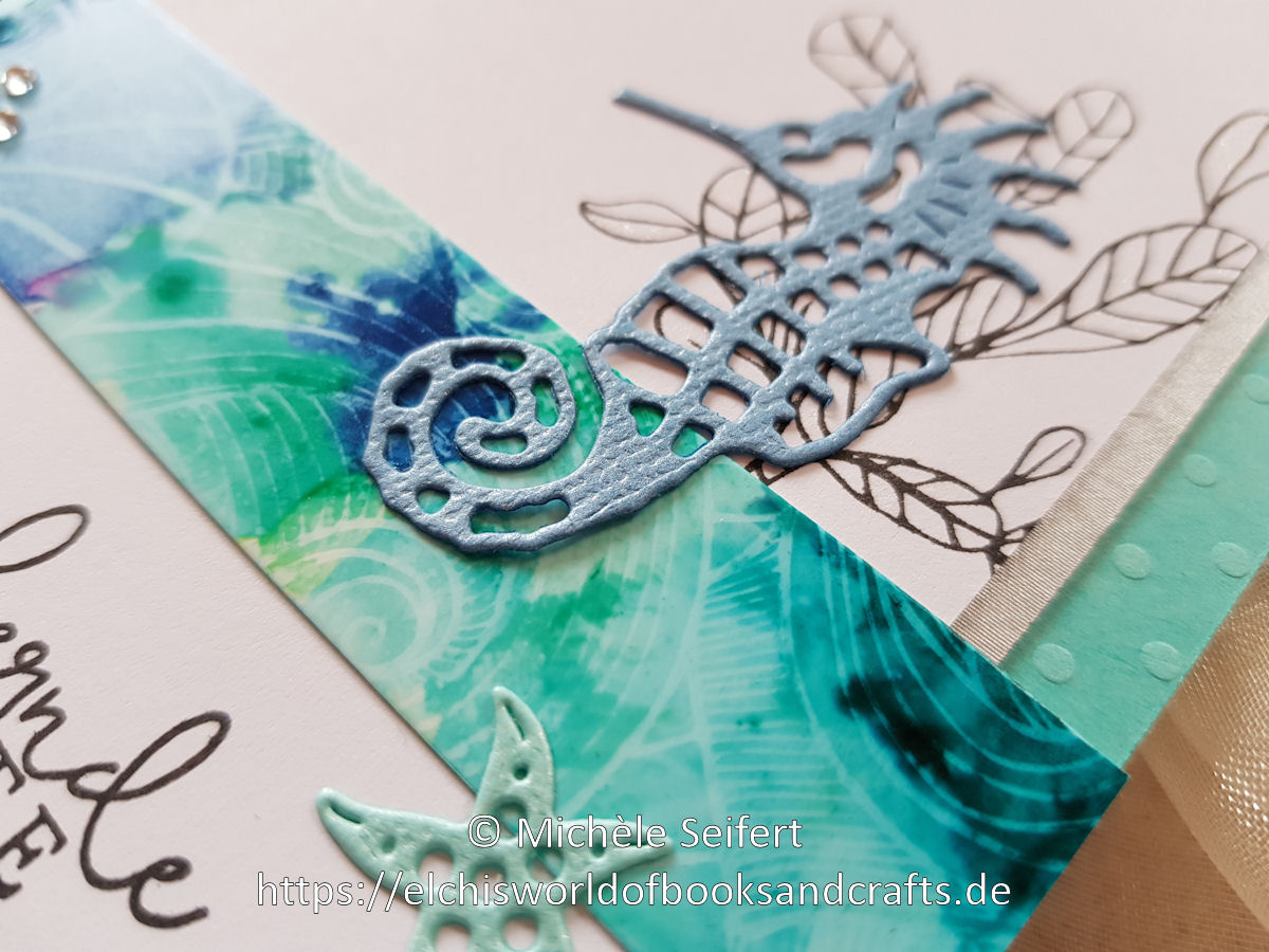 Alcohol Inks - Couture Creations - Seaside and Me - Seahorse and Starfish - Creative Depot - Steckenpferdchen - Koralle