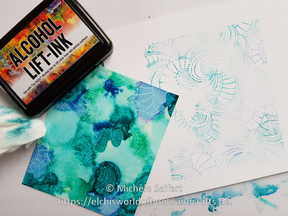 MFT - Wavy Coloring Book - Alcohol Inks