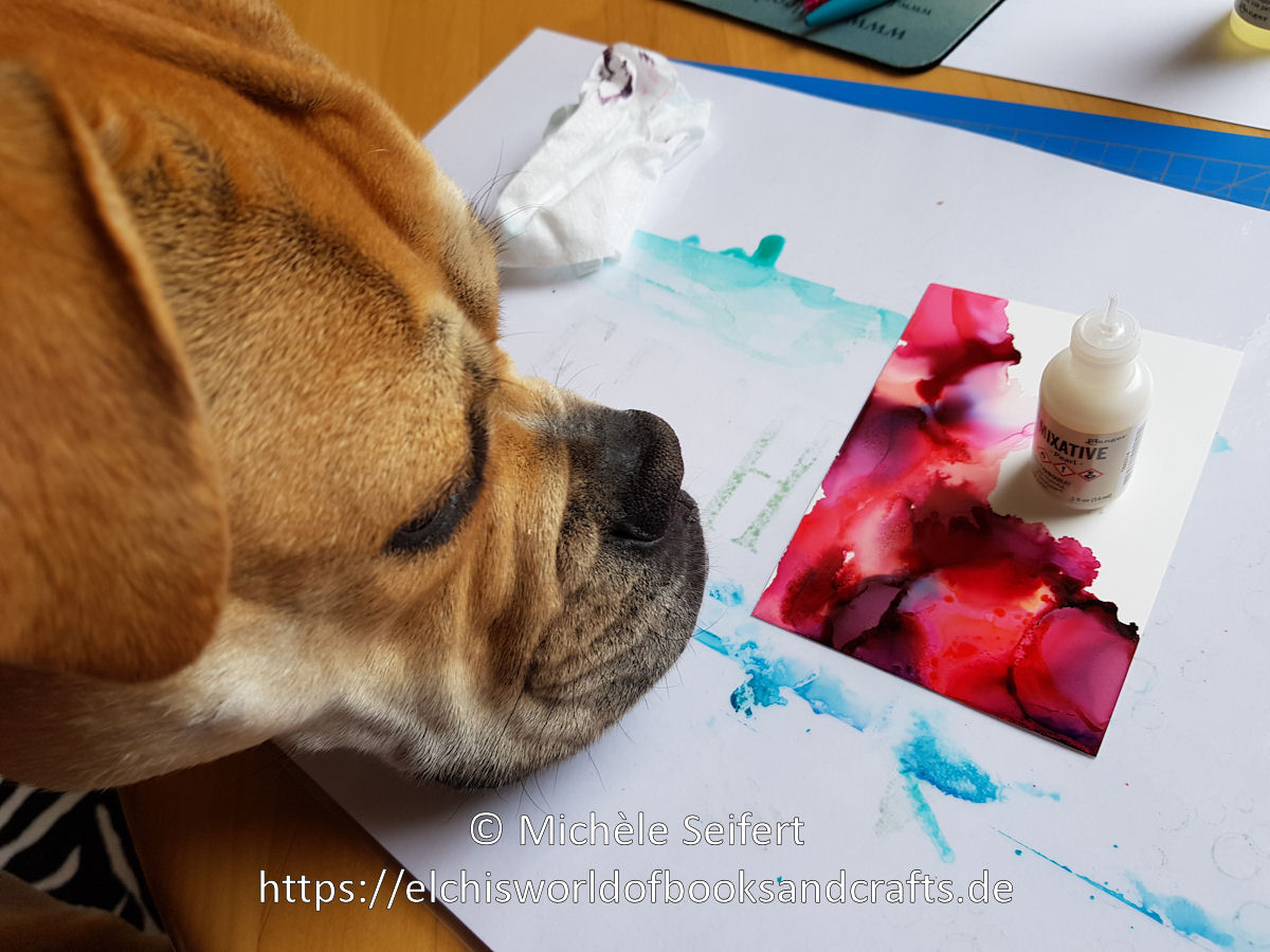 Alcohol Inks - May - Old English Bulldogge