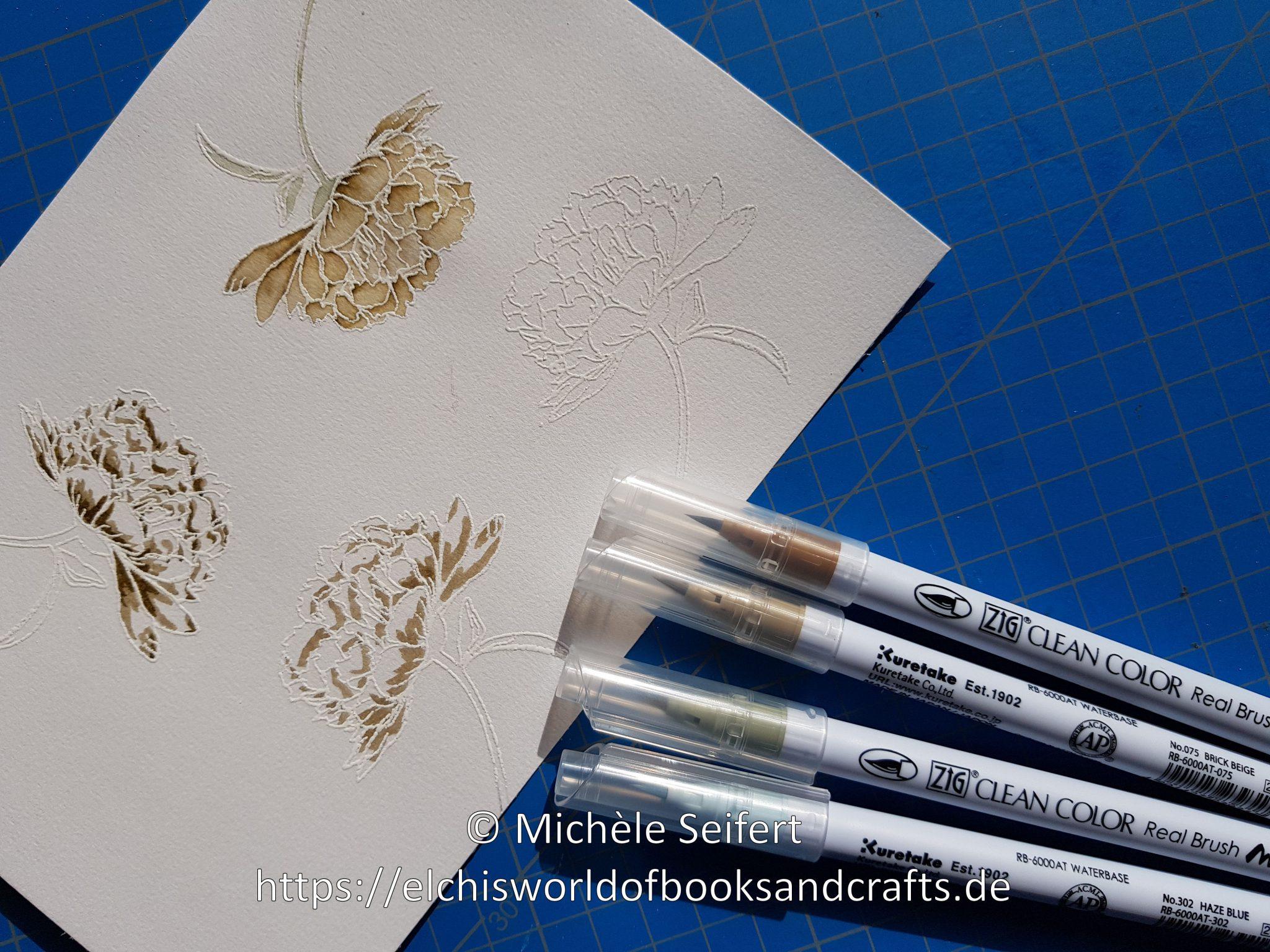 Creative Depot | Blumiger Geburtstag | Stempelset | Aquarell-Look | Zig Clean Color Real Brush Marker