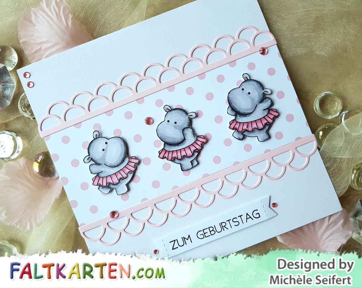 Clearly Besotted - Twinkle Toes - Copics - Geburtstagskarte - Kindergeburtstag - Faltkarten.com - babypink
