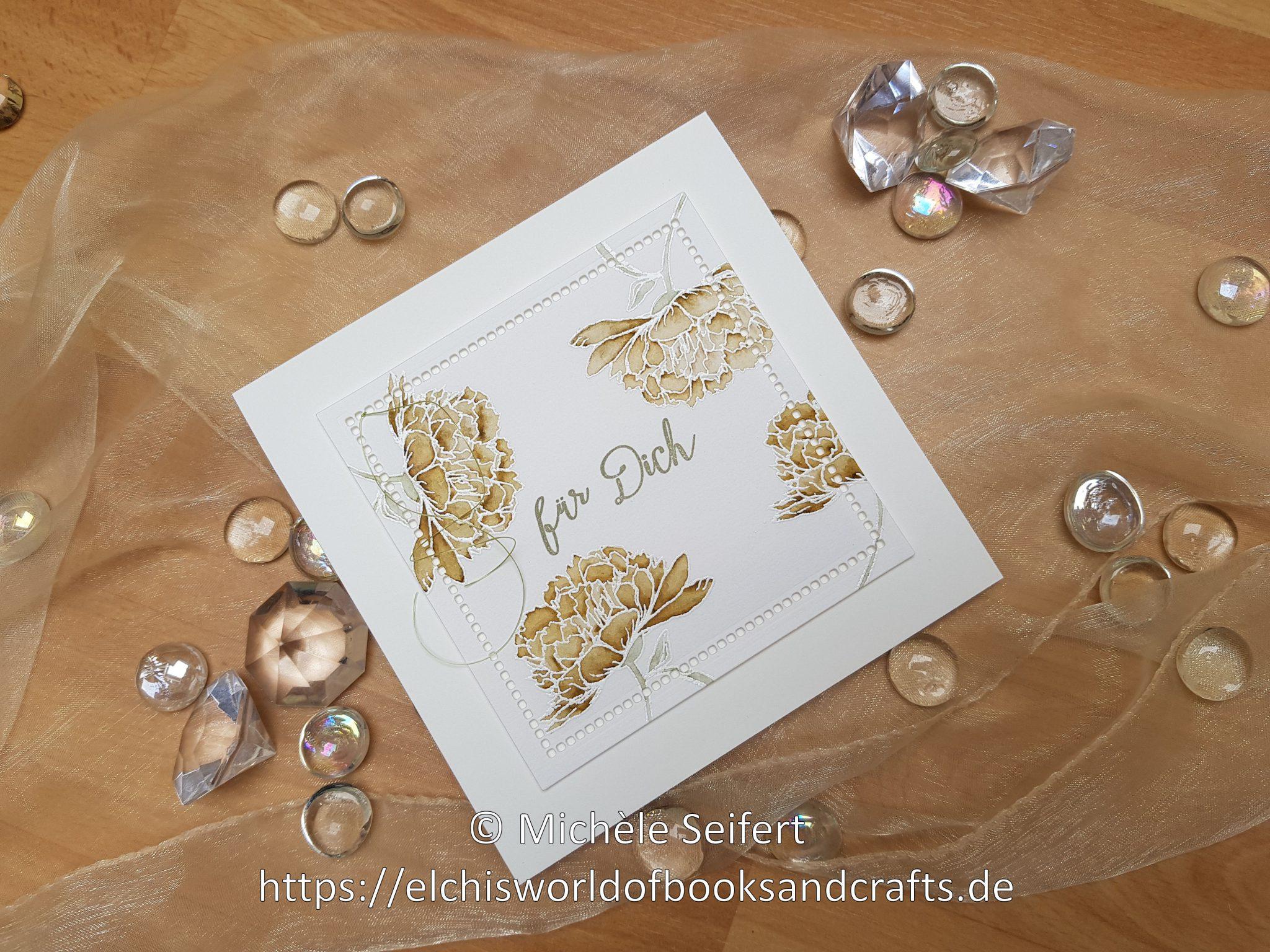 Creative Depot | Blumiger Geburtstag | Stempelset | Aquarell-Look | Zig Clean Color Real Brush Marker | Karte | Spellbinders | Hemstitch Squares