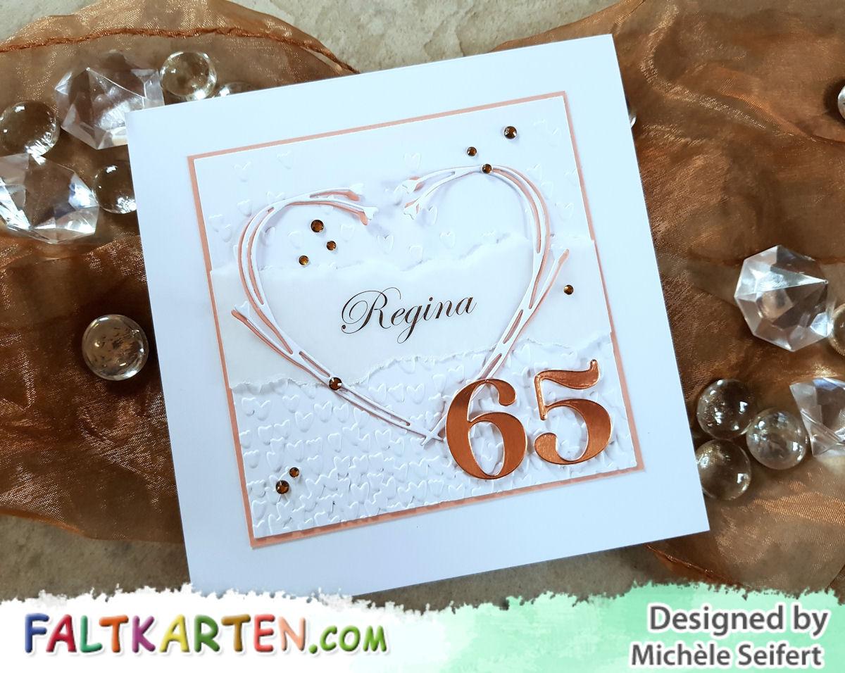 Creative Depot - Boho-Herz - Minc - Rose Gold - Stampin' Up! - Blütenregen - Geburtstagskarte - Faltkarten