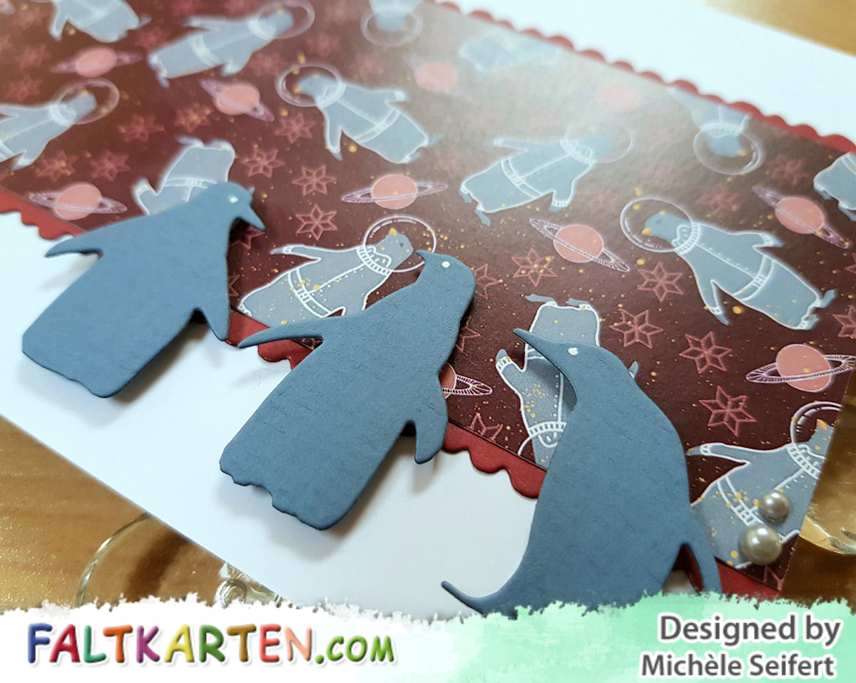 Faltkarten - Arctic Winter - Memory Box - Playful Penguins - Create A Smile - Zu Weihnachten - Karte