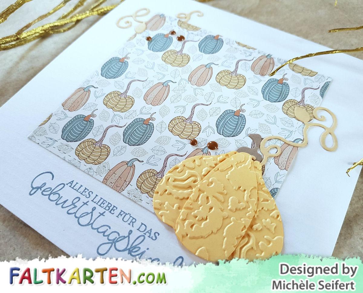Faltkarten.com - Happy Herbst - Kürbis - Magnolia Doohickey Dies - Geburtstagskarte - Creative Depot