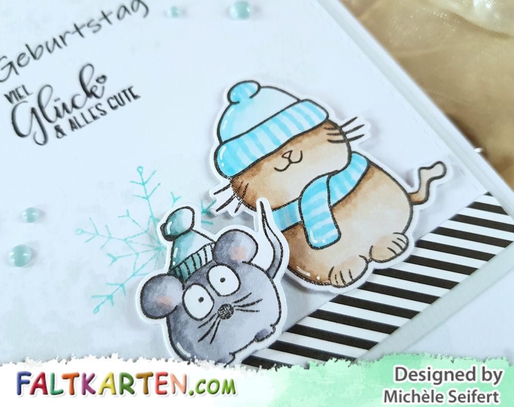 Faltkarten.com - Kuschlige Weihnachtsgrüße - Kulricke - Alles Liebe - Geburtstagskarte - Birthday Card