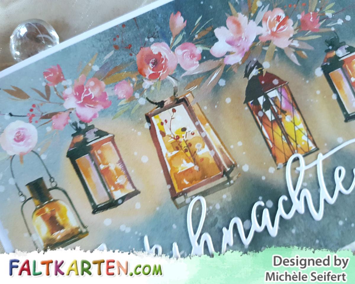 Faltkarten.com - Design-Papier - Zauberwald - Laternen - Creative Depot - Weihnachten - Karte