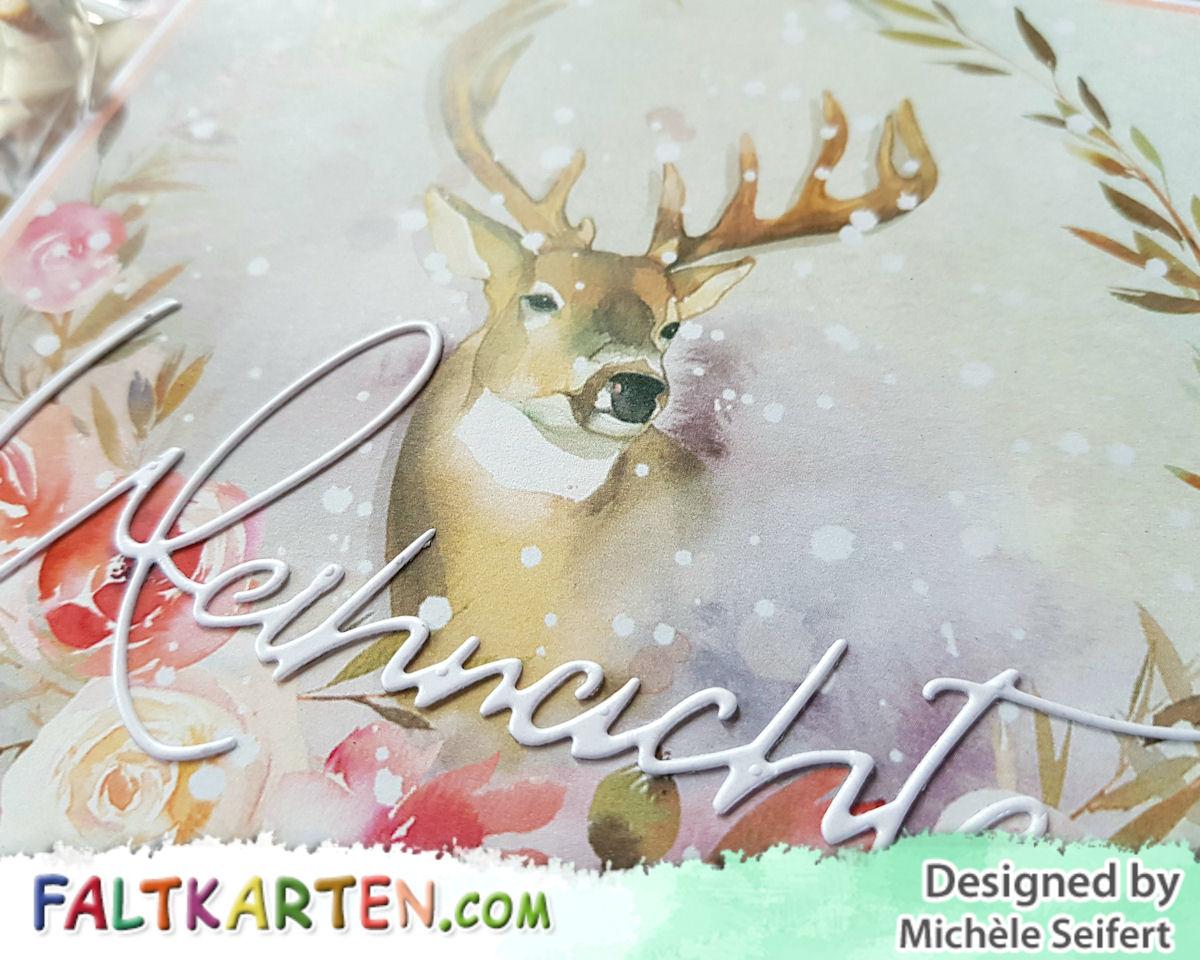 Faltkarten.com - Design-Papier - Zauberwald - Hirsch - Creative Depot - Weihnachten - Karte