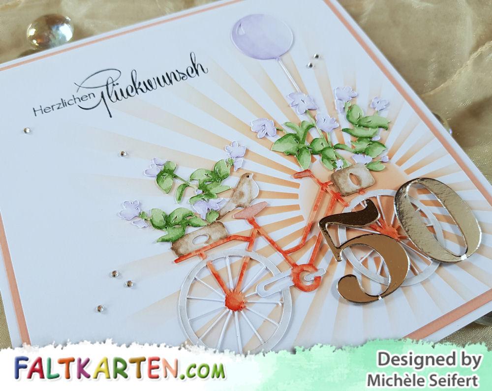 Beemybear - Herzlichen Glückwunsch - Geburtstagskarte - Fahrradkarte - Silhouette Schneidedatei - Vintage Bike – by Tommy and Tilly Paper Design