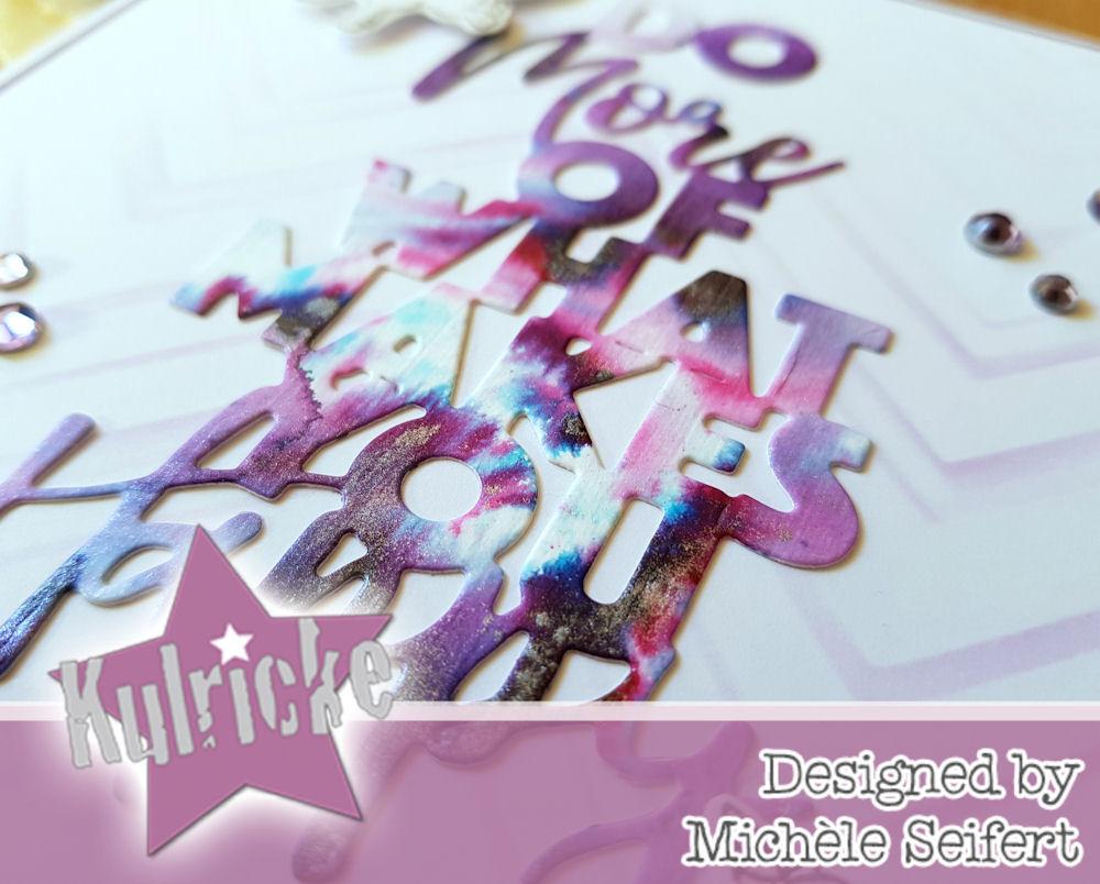 Kulricke - Do More Of What Makes You Happy - Mini Einhorn - Nuvo Shimmer Powder - Violet Brocade - Grusskarte