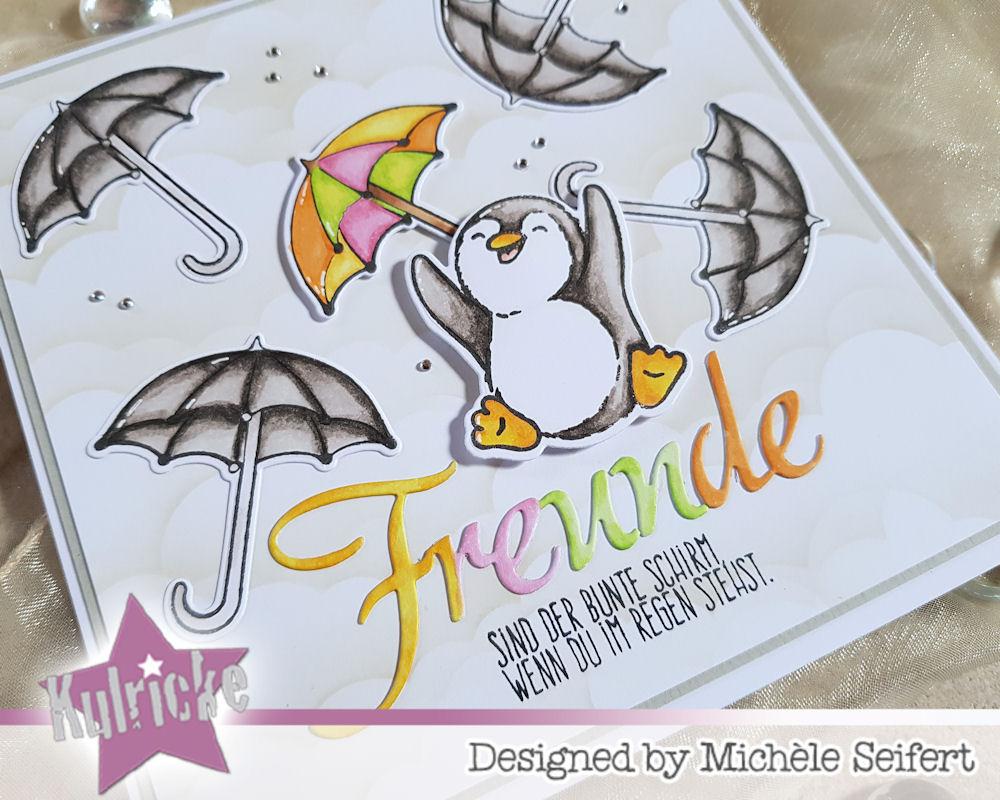 Kulricke - Hurra Felix - Regenschirm - Create A Smile - Freunde wie Du - Grusskarte - Freundschaft