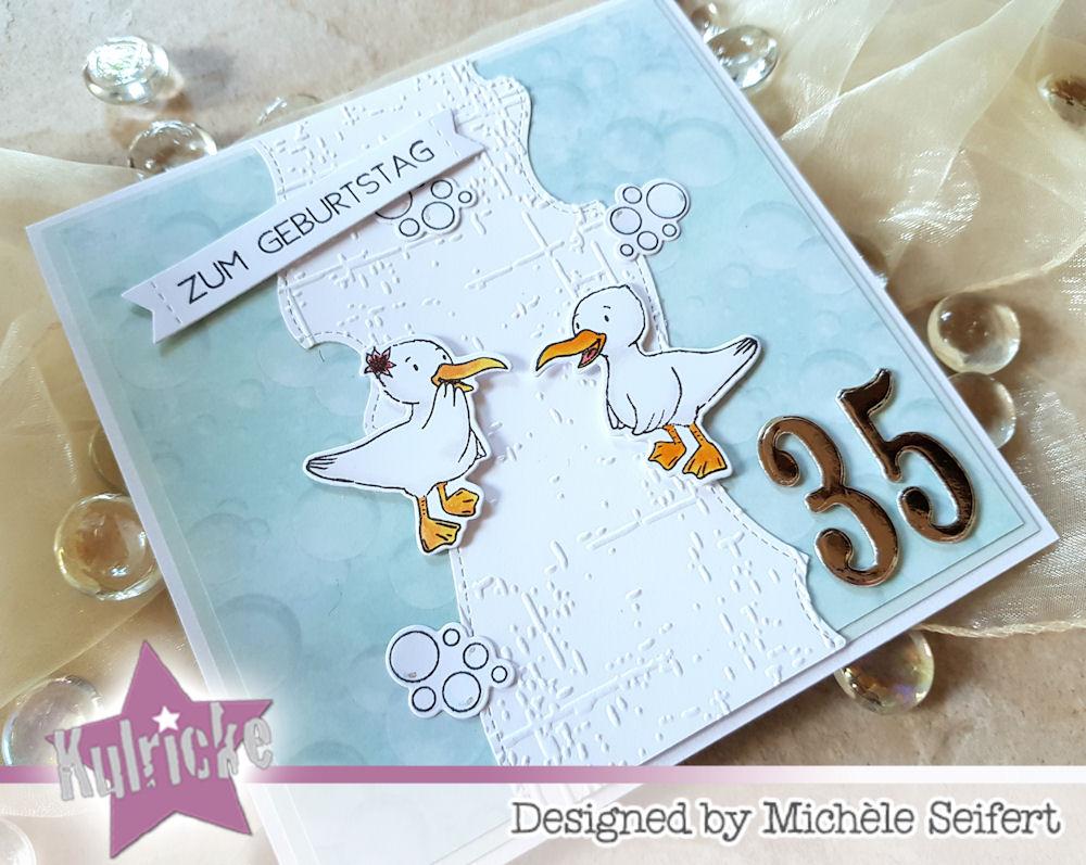 Kulricke - Moin Möve - Geburtstagskarte - maritim