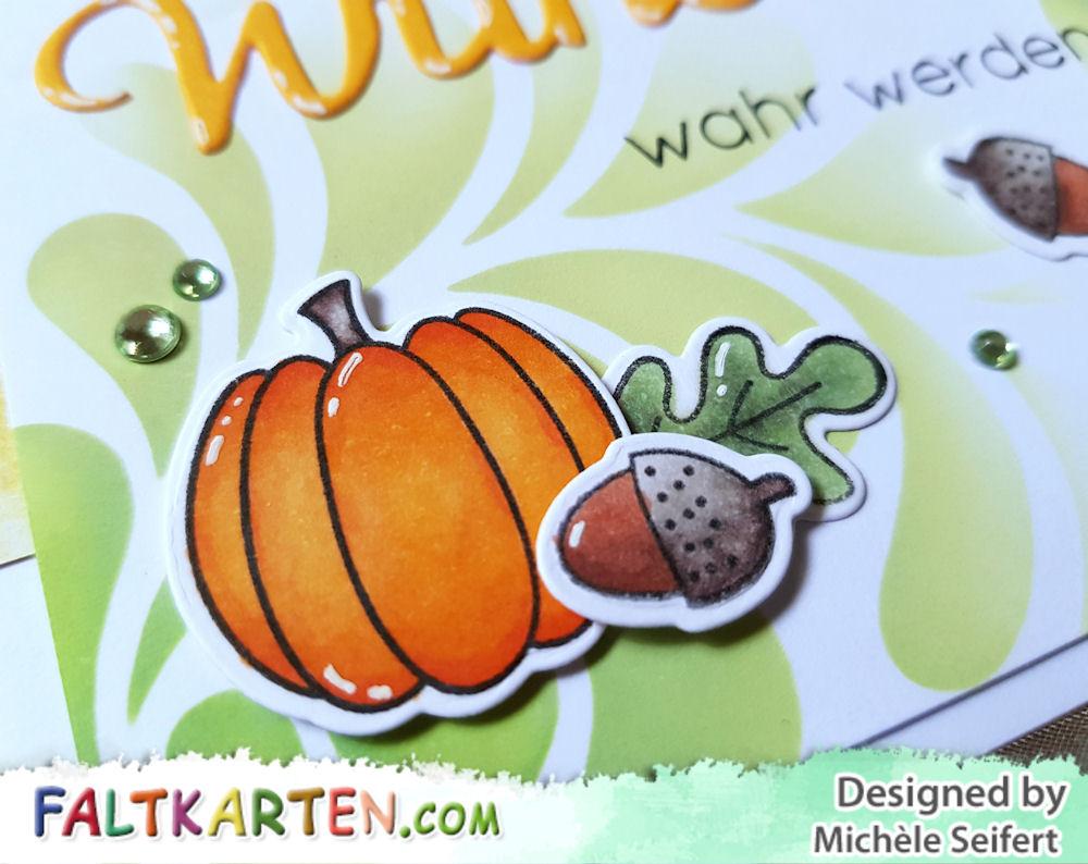 Lawn Fawn - Thankful Mice - MFT - Fall Friends - Karten-Kunst - Riesige beste Wünsche - Grusskarte