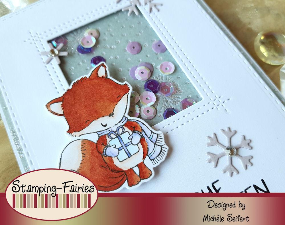 MFT - My Favorite Things - Christmas Cheer - Die-Namics - Sweet Snowflakes - Rectangle PeekA-Boo Window - Schüttelkarte - Shaker Card - Weihnachtskarte - Christmas Card