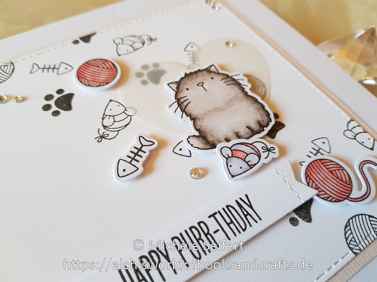 MFT - Cool Cat - I Knead You - Birthdaycard - Geburtstagskarte - Katze - Copics