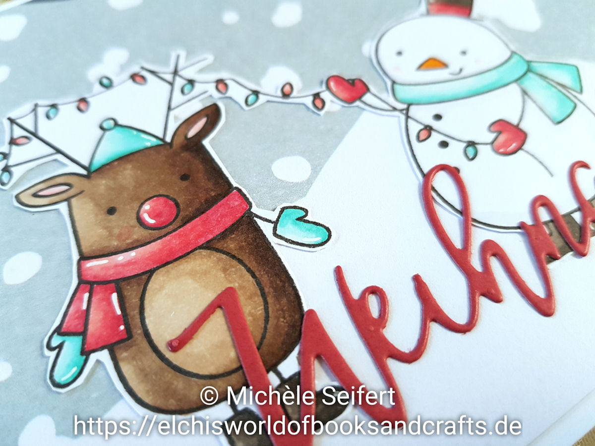 MFT - Festive Friends - Copics - Weihnachtskarte