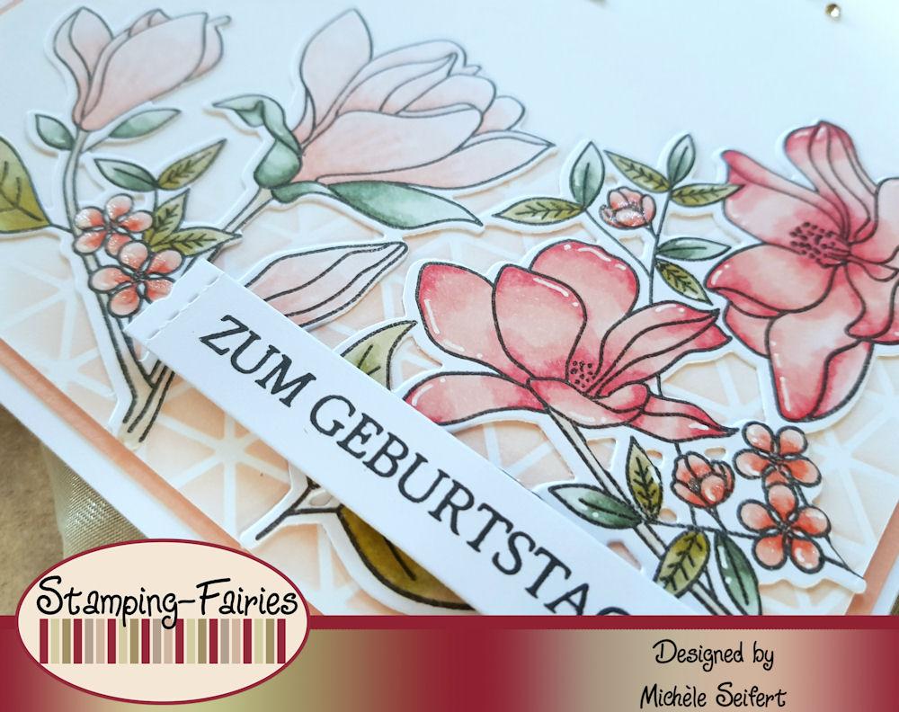 My Favorite Things - MFT - Floral Focus - Geometric Grid - Rayher Zahlen groß - Geburtstagskarte - Birthday Card