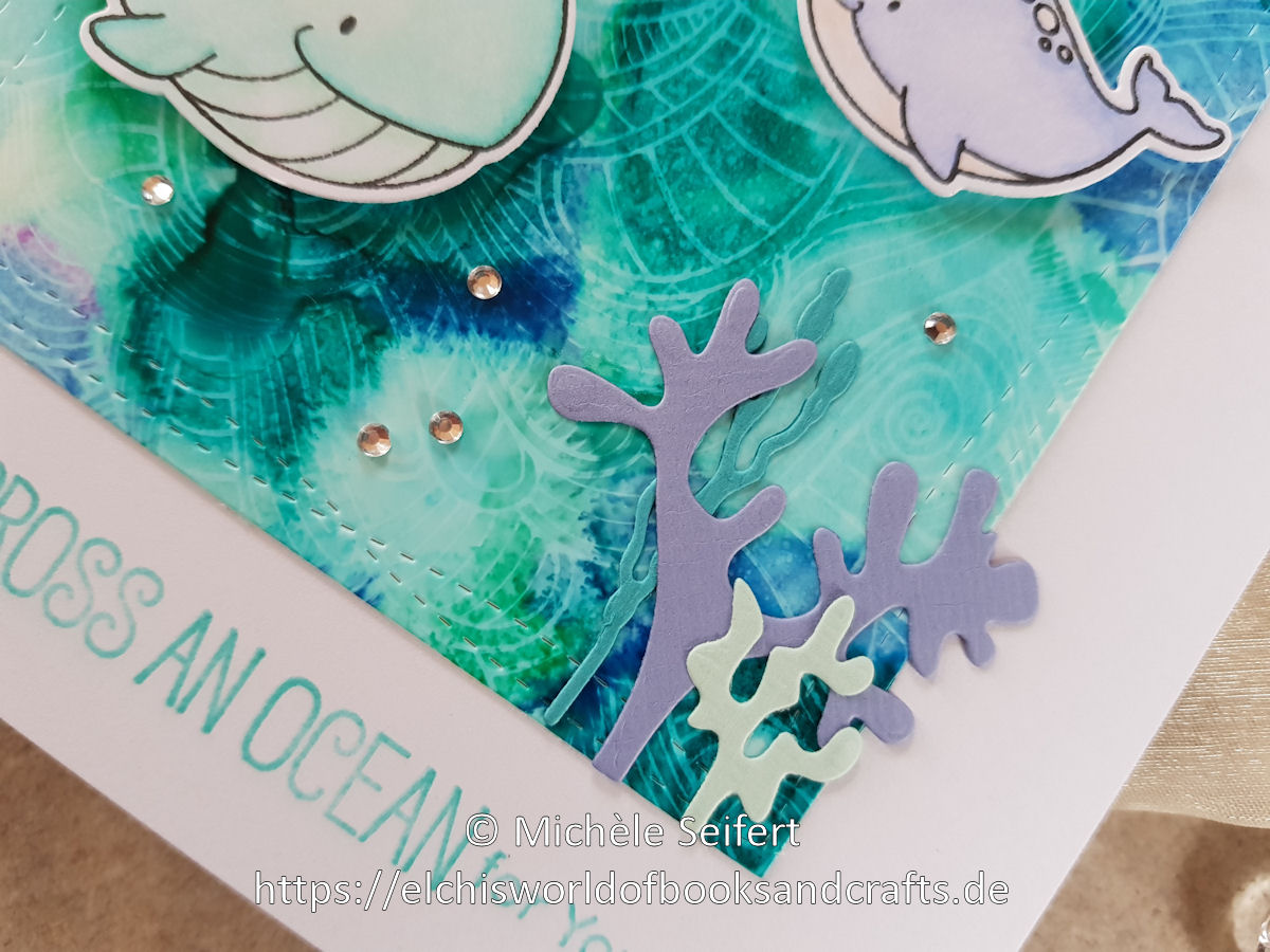 MFT - Friends with Fins - Wavy Coloring Book - Alcohol Inks - Craft Emotions - Seaweed - Coral