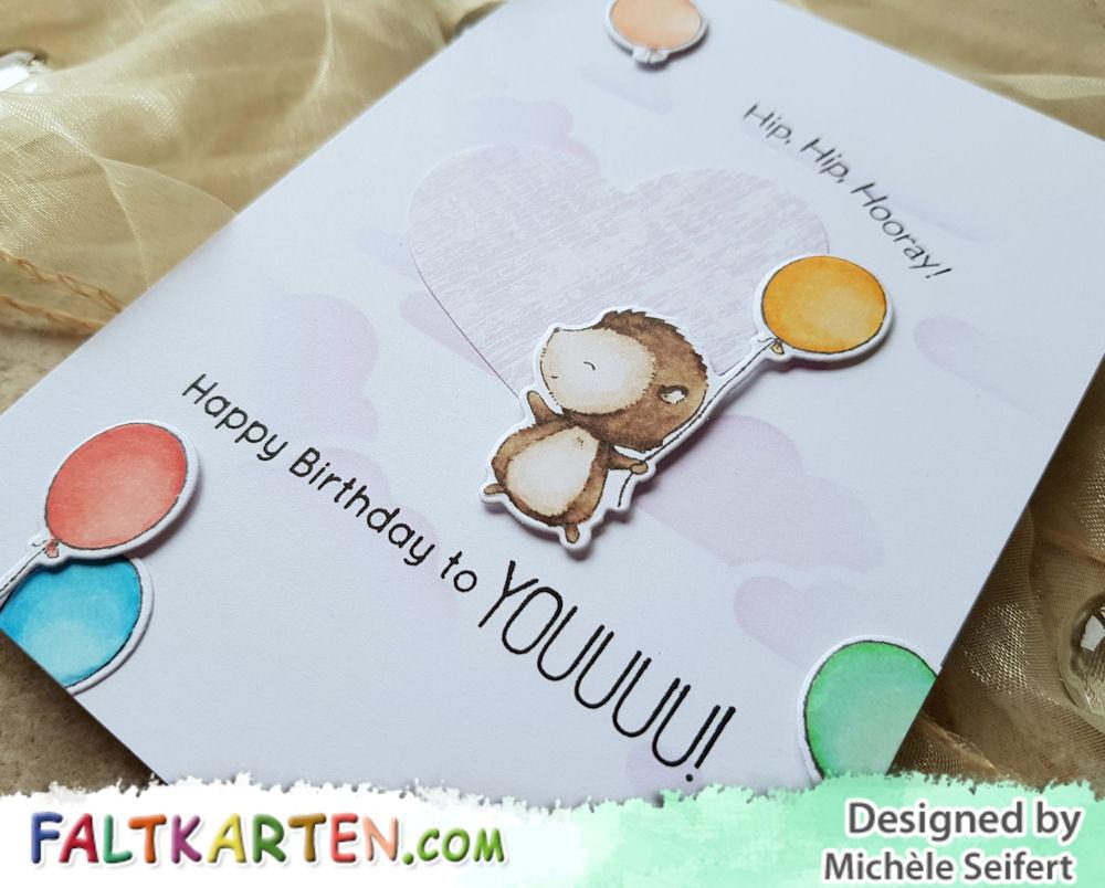 My Favorite Things - MFT - Hooray Kind of Day - Create A Smile - Cloud Pattern - Geburtstagskarte - Birthday Card