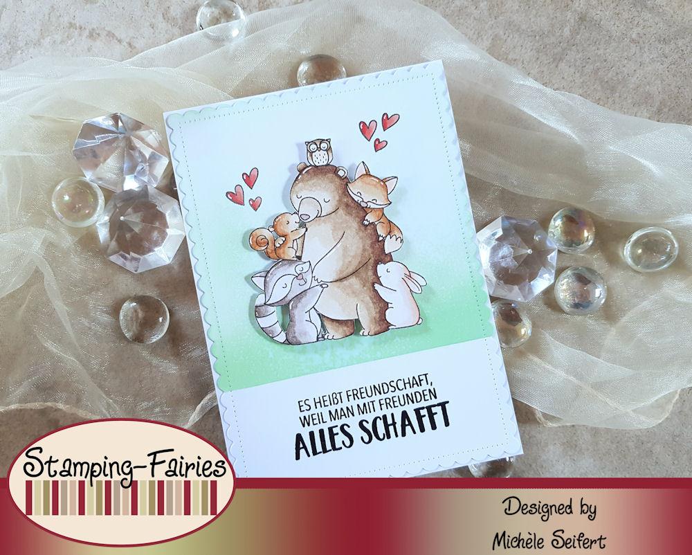 My Favorite Things - MFT - Hug It Out - DaniPeuss - Folg deinem Herzen - Freundschaft - Grusskarte