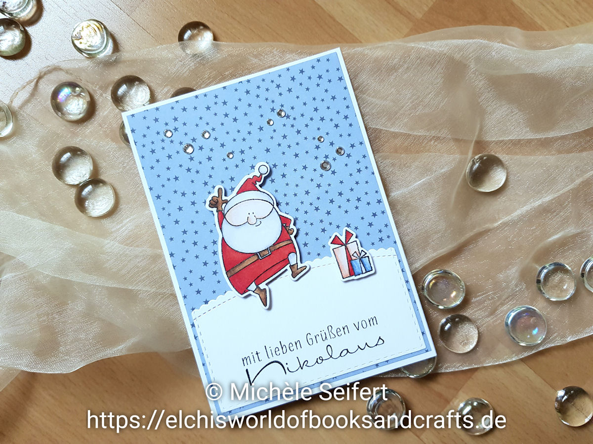 My Favorite Things - MFT - Jingle All the Way - Dini Design - Nikolaus - Weihnachtsmann - Weihnachtskarte - Copics
