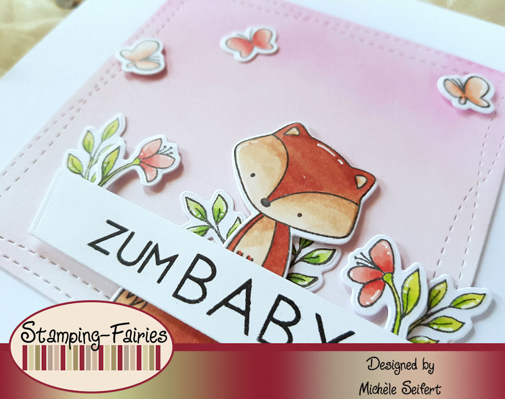 My Favorite Things - MFT - Let's Curl Up - Tweet Friends - Adorable Elephants - Babykarte - Baby Card
