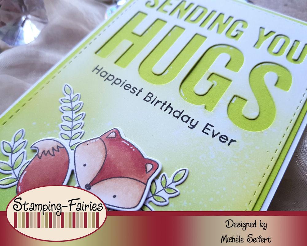 MFT - My Favorite Things - Let's Curl Up - Die-Namics - Sending You Hugs - Geburtstagskarte - Birthday Card