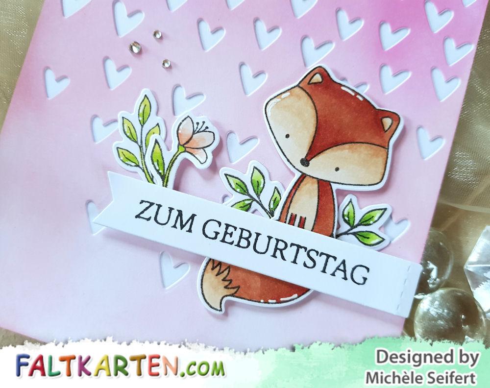 My Favorite Things - MFT - Let's Curl Up - Tweet Friends - Sizzix - Falling Hearts - Geburtstagskarte - Birthday Card