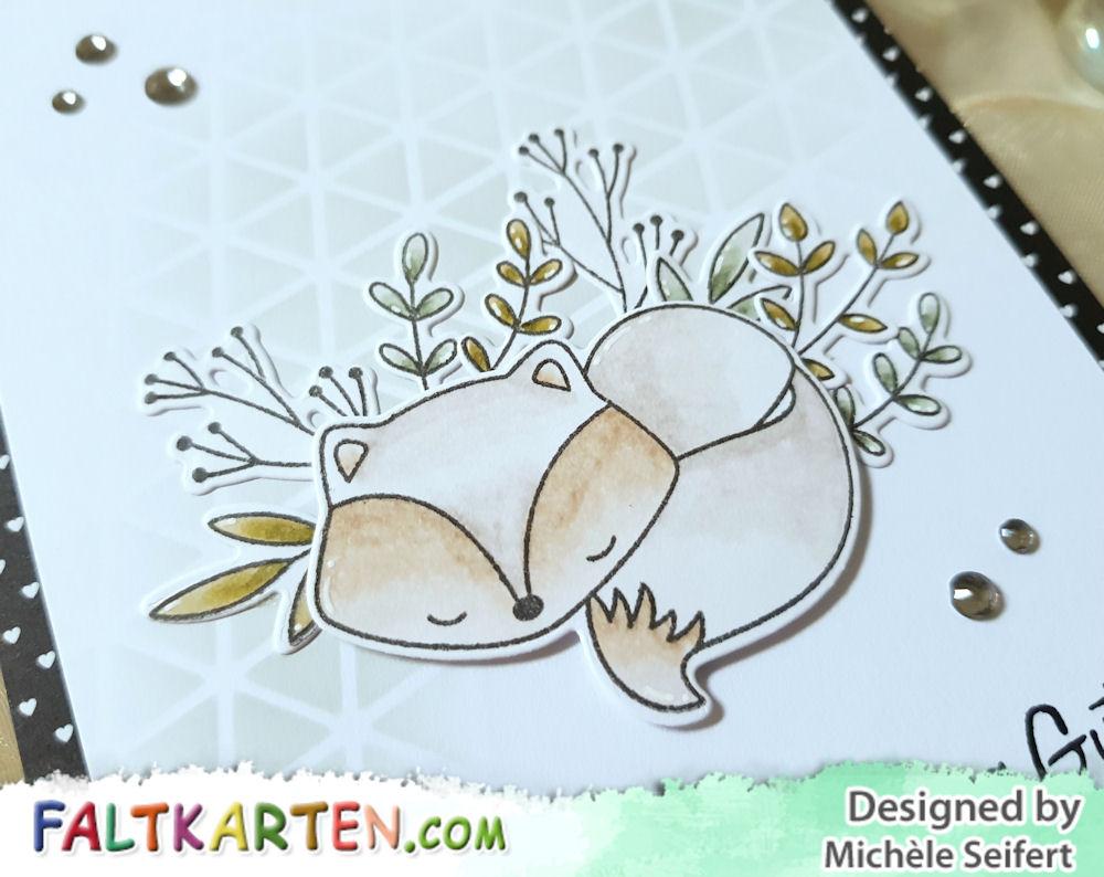 My Favorite Things - MFT - Let's Curl Up - Geometric Grid - Distress Oxide - iced spruce - Geburtstagskarte