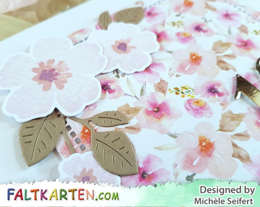 MFT - My Favorite Things - Pressed Flowers - 4enScrap - Feuillage de printemps - Geburtstagskarte - Birthday Card