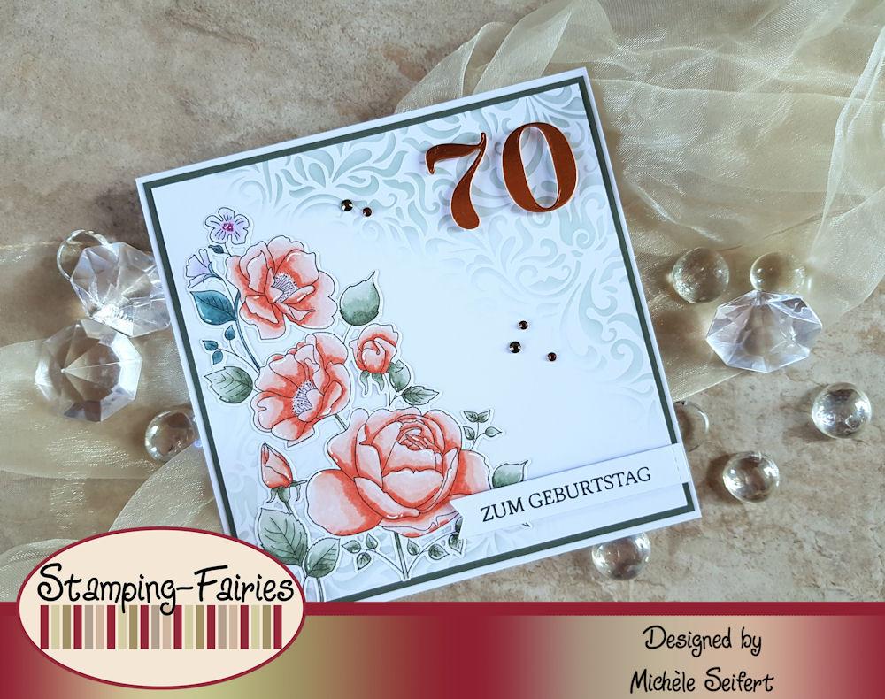 My Favorite Things - MFT - Rose Garden - Geburtstagskarte - Birthday Card