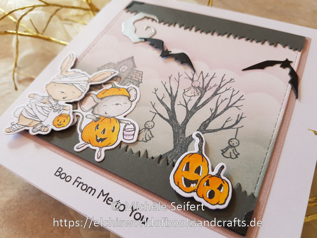 My Favorite Things - Spooktacular Friends - Happy Halloween - Sizzix - Tim Holtz - Bat Crazy - Frightful Things - Copics