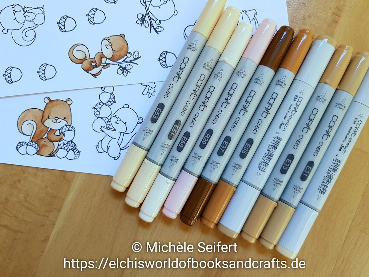 My Favorite Things - MFT - Squirrels - Eichhörnchen - Geburtstagskarte - Birthdaycard - Copics