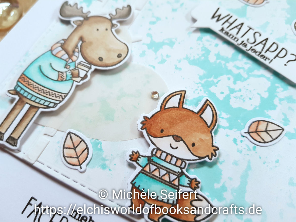 MFT - My Favorite Things - Sweater Weather in the Woods - Elch - Fuchs - Birch Trees - Create A Smile - Copics - Grußkarte