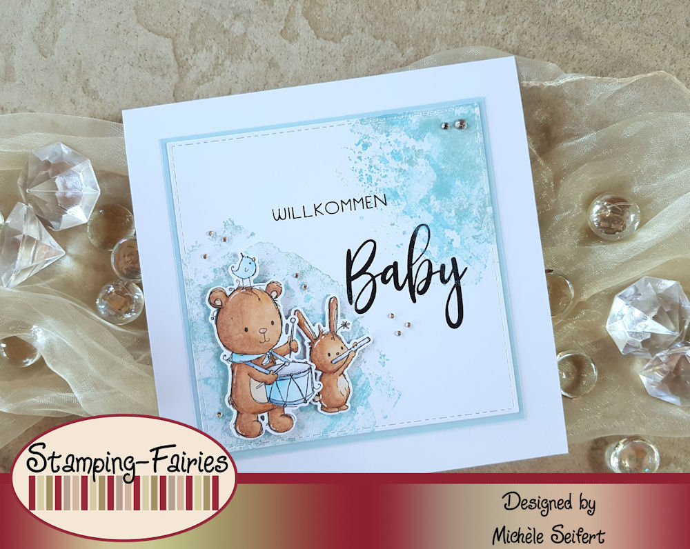 My Favorite Things - MFT - You're My Jam - Rachelle Anne Miller Collection - Babykarte - Baby Card