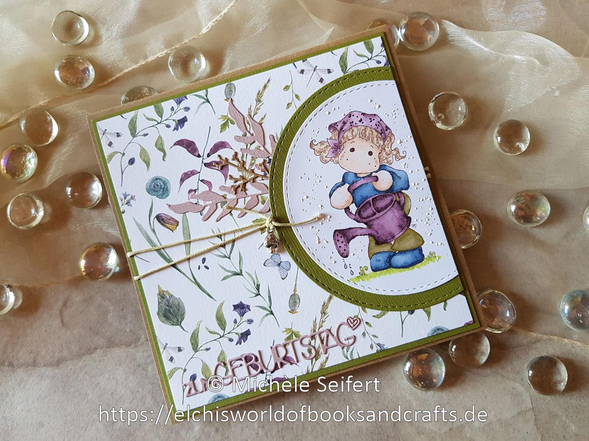 Magnolia - Tilda with Watering Can - Creative Depot - Design-Papier - Herbstwiese - Florilèges Design - Pots Rustiques - Feuillages des Bois - Charlie und Paulchen - Zum Geburtstag - Herbst