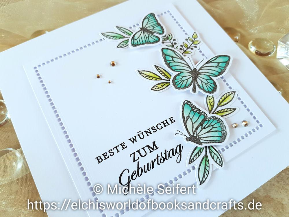 Stampin' Up! - Floating and Fluttering - Schöner Schwarm - Meine Magnolien - Geburtstagskarte - Birthday Card