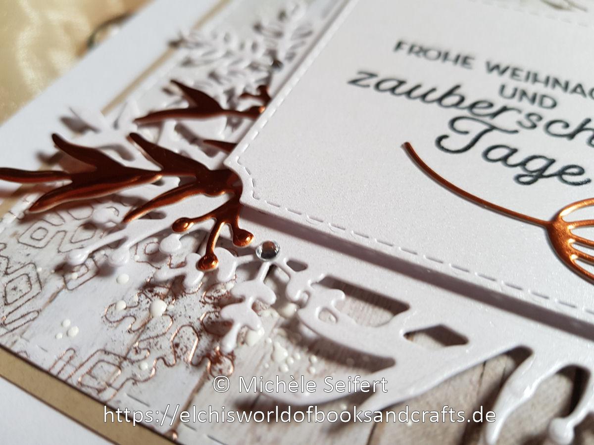 Stampin' Up - SU - Frosted Frames - Frosted Foliage - Winterzweige - Weinterrahmen - Adventsakzente - Christmas Layers - Zweige - Schneeflocken - Winter - Weihnachten - Weihnachtskarte - Christmas - Christmascard - Holzoptik