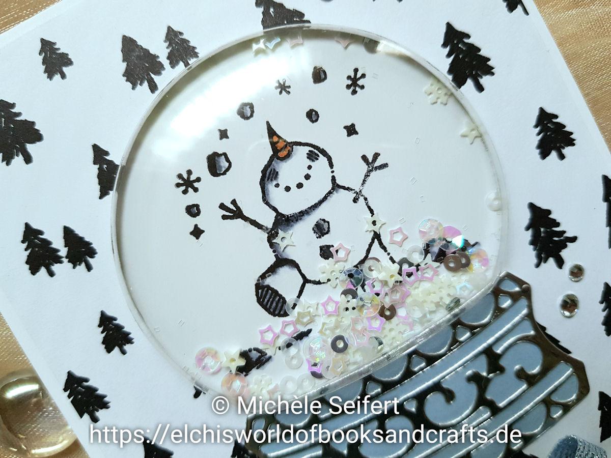 Stampin' Up! - SU - Frostige Grüsse - Weihnachtsmix - Schneekugel - Schüttelkarte - Pailletten Schneeflöckchen - Schneemann - Weihnachtskarte