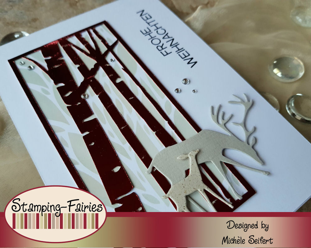 Sizzix - Darling Deer - Weihnachtskarte - Christmas Card