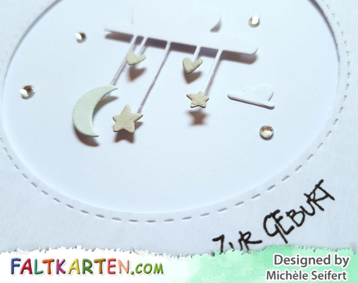 Sizzix - Lullaby - Schlaflied - Pete Hughes - Baby - Geburt - Faltkarten.com - Design-Papier - Wooden Pastell