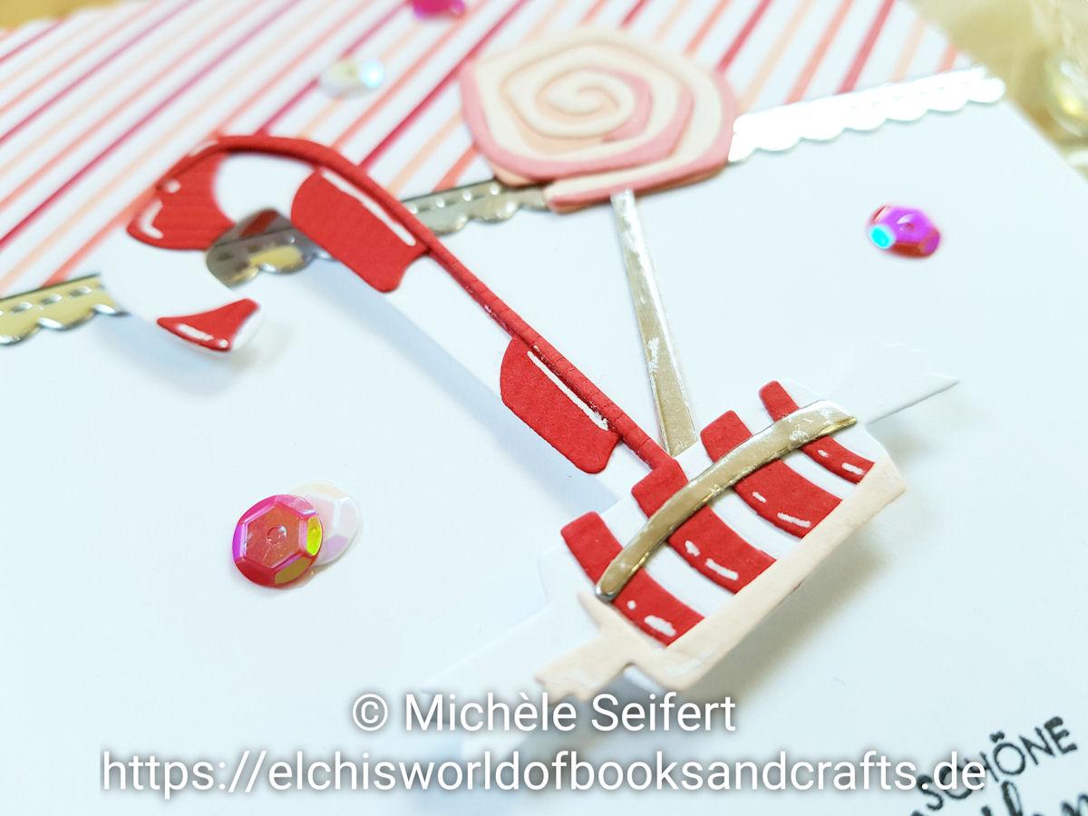 Sizzix - Tim Holtz - Sweet Treats - Süsse Leckereien - SU - Stampin' Up! - Weihnachtsmix - Design-Papier - Stacked With Love - Jede Menge Liebe - Weihnachtskarte