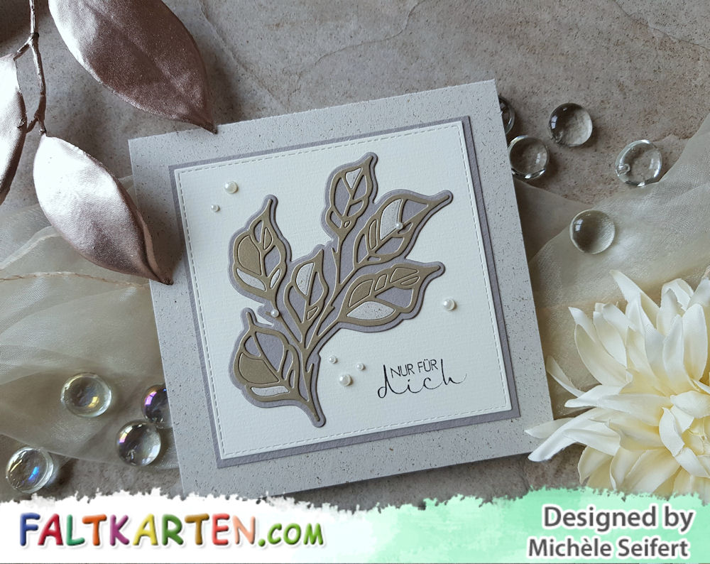 Spellbinders - Leafves So Very Gorgeous - Faltkarten.com - Graskarton - Grusskarte - Herbstkarte