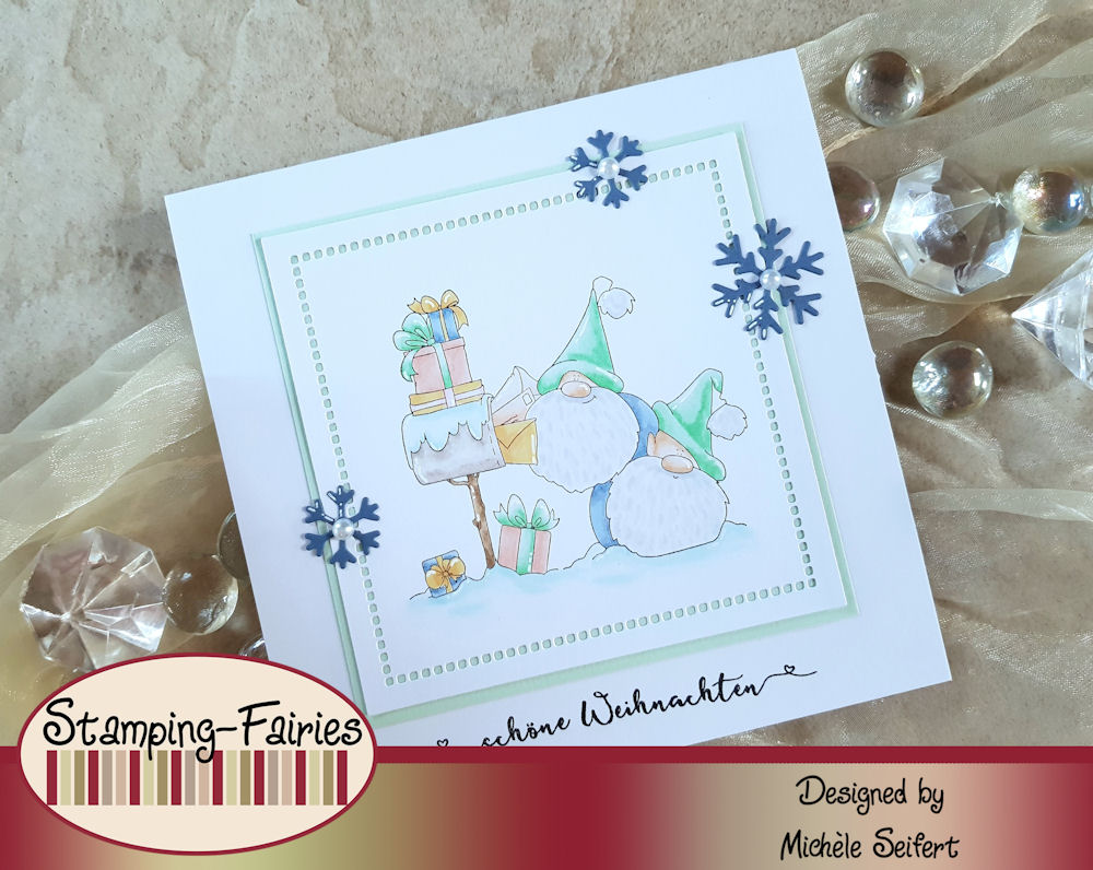 Stamping Bella - Christmas Card Gnomes - Weihnachtskarte - Christmas Card