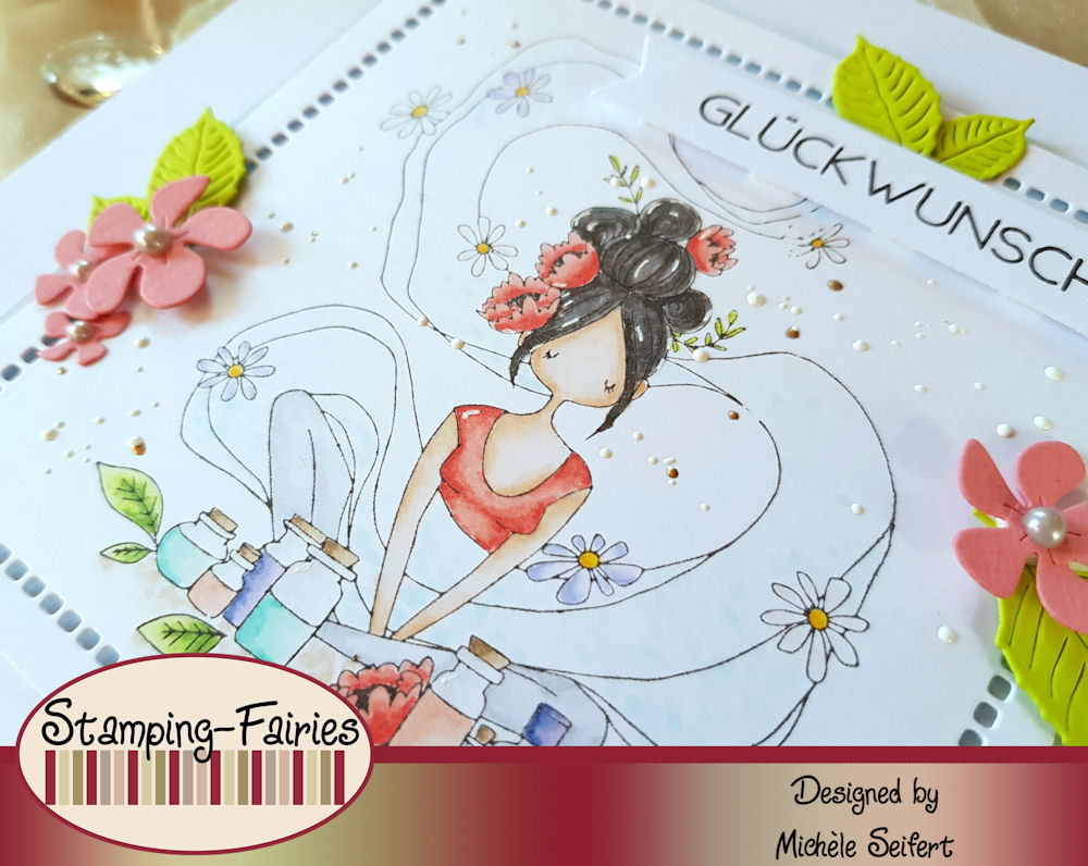 Stamping Bella - Curvy Girl Loves Essential Oils - Grusskarte - Geburtstagskarte - Birthdaycard - Wellness
