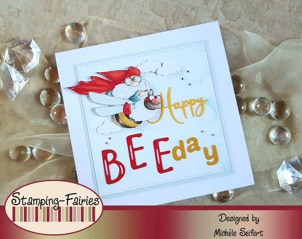 Stamping Bella - Flying Gnome - Altenew - Brush Alpha - Simple Alpha - Memorybox - Happy Birthday Friendship Script - Geburtstagskarte - Birthdaycard