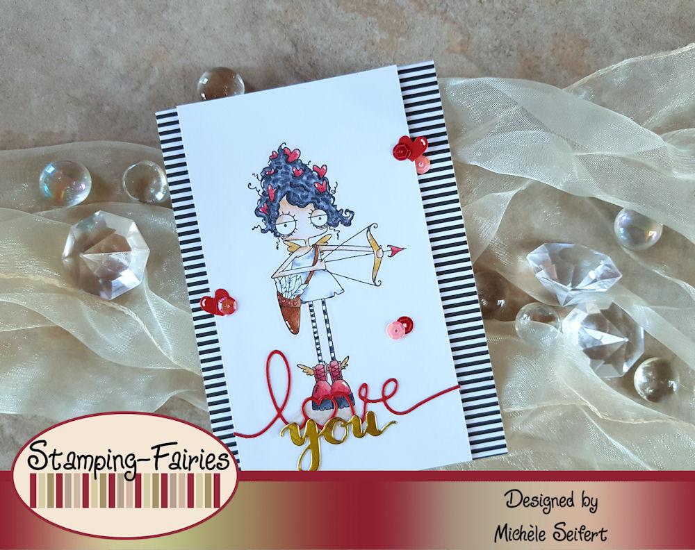 Stamping Bella - Oddball Cupid - Valentinstag - Grusskarte