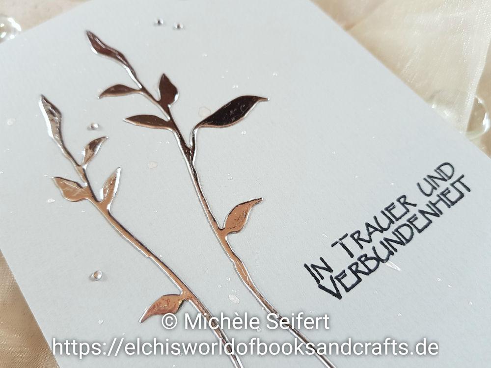 Steckenpferdchen Shop - Filligranes Blaetter Set - Inkystamp - Unvergessen - Trauerkarte - Funeral Card