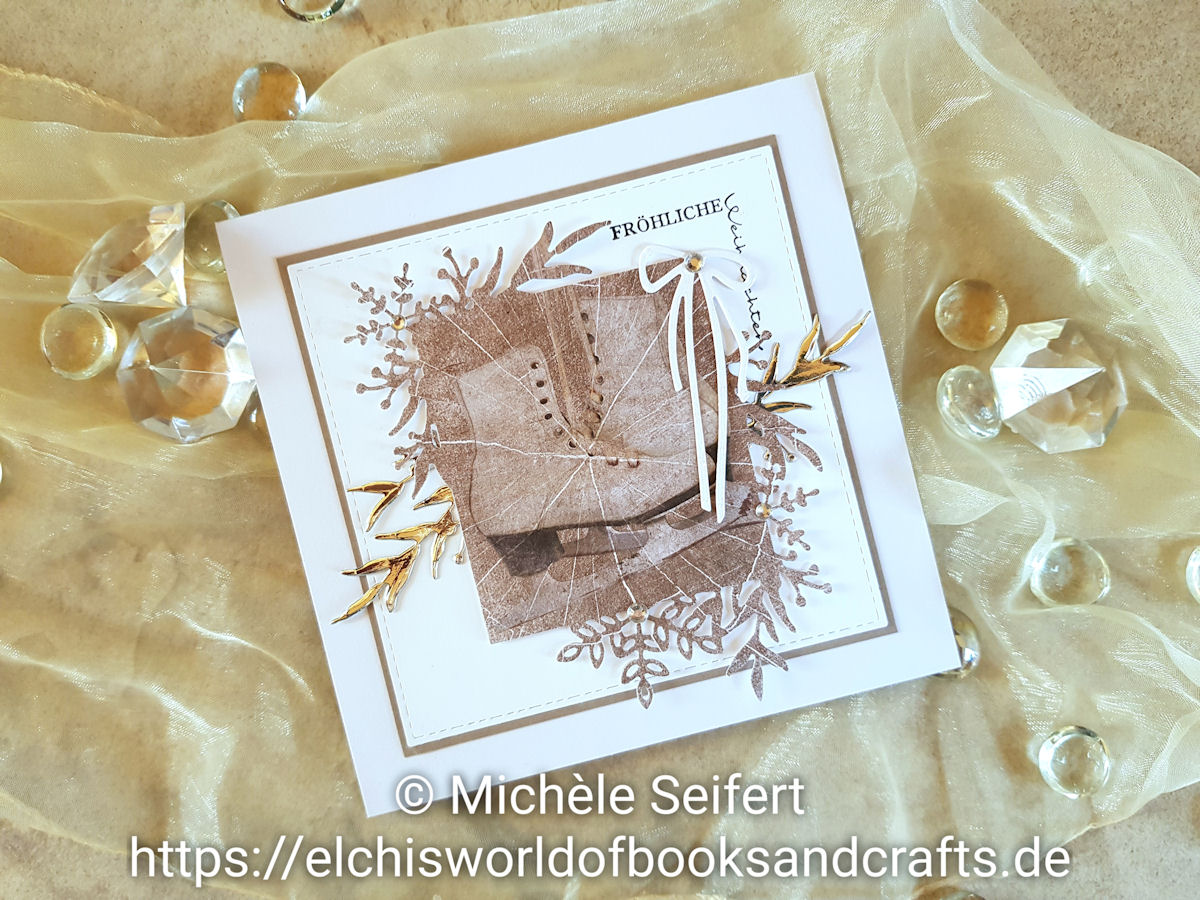 Stampin' Up - SU - Frosted Frames - Frosted Foliage - Winterzweige - Winterrahmen - Dini Design - Fröhliche Weihnachten um die Ecke - Studio Light - Paper Pad - Zweige - Schneeflocken - Winter - Weihnachten - Weihnachtskarte - Christmas - Christmascard - Holzoptik