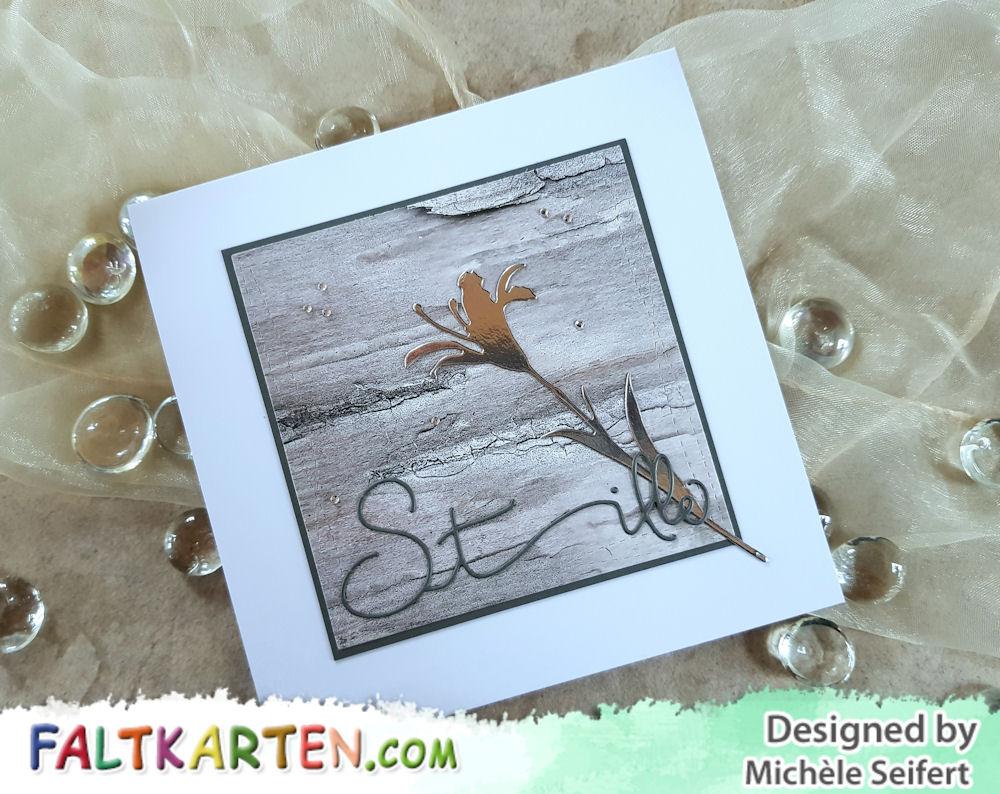 Alexandra Renke - Stille - Creative Depot - Wildblume 2 - Beemybear - Design-Papier - Birch Bark - Trauerkarte